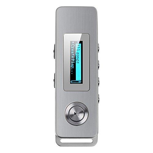 AGPTek® Mini profesional Grabadora de Voz digital 8GB HD de reducción de ruido de remoto con función MP3