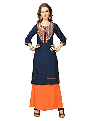 Kurtis for women (Latest Low price Designer Party wear Navy BlueRayon kurtis...