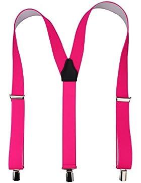 Hochwertige Hosenträger mit starken Clips 35mm | schwarz / royal / rot / weiß / grau
