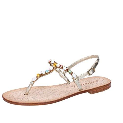 Eddy daniele sandali gioiello donna 37 eu platino pelle cristalli swarovski