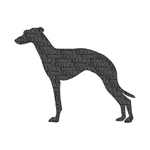 the-stencil-studio-ltd-greyhound-stencil-reusable-stencil-size-extra-small-a5-10144xs