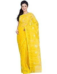 Tjsarees Handloom Silk Saree (Tj500048_Yellow_Free Size)