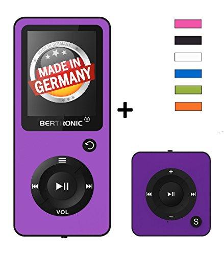 BERTRONIC Royal BC02 und BC05 MP3-Player ★ Bis 100 Stunden Wiedergabe ★ Farbdisplay ★ Radio   Portabler Player   Audio-Player für Sport mit Micro SD-Kartenslot