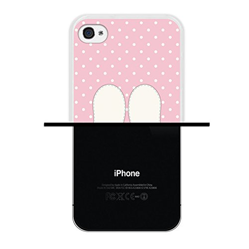 iPhone 4 iPhone 4S Hülle, WoowCase Handyhülle Silikon für [ iPhone 4 iPhone 4S ] Cool Swag Smile Handytasche Handy Cover Case Schutzhülle Flexible TPU - Rosa Housse Gel iPhone 4 iPhone 4S Transparent D0339