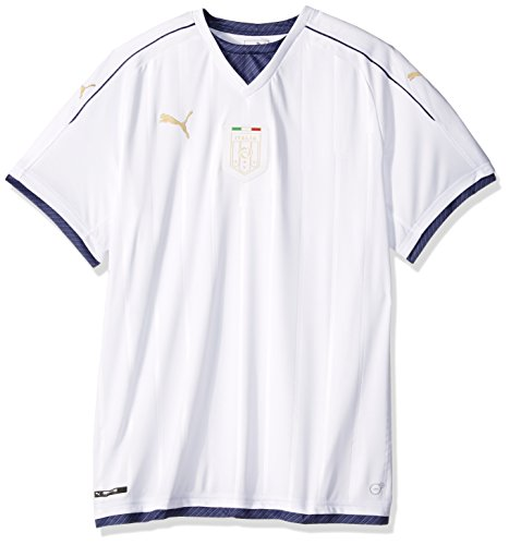Puma Men's FIGC Italia Tribute Away Shirt Replica (Stripe Shirt Panel)