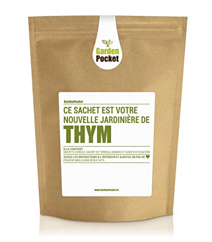 Garden Pocket - Kit de culture d'herbes aromatiques THYM - Sac de pot de fleur