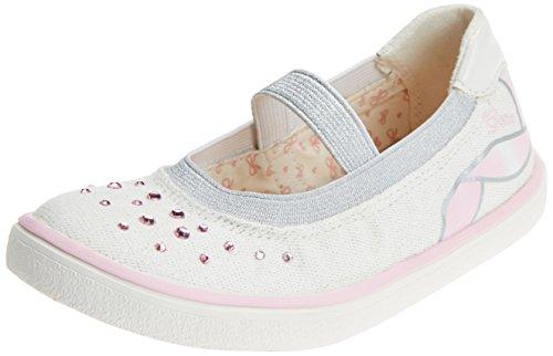 Geox Mädchen J Kilwi Girl K Geschlossene Ballerinas, Weiß (White/Lt Pink), 34 EU -