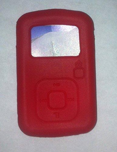 Upper Tech Uk Rot Silikon Haut CASE für SanDisk Sansa Clip Plus + MP3-Player Cover Halter Sansa Mp3-player Case