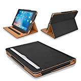 MOFRED® Black & Tan Apple iPad Executive Leather Case for