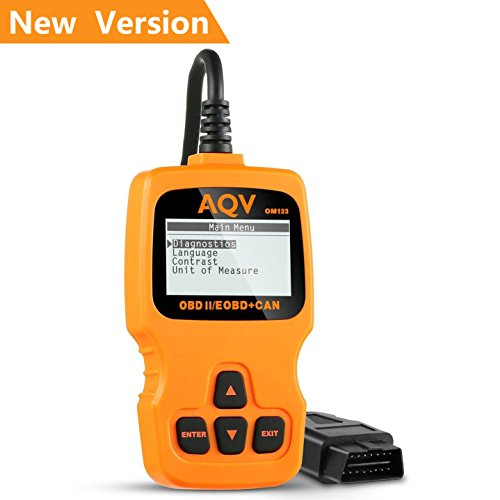 AQV OBD2 Scanner Lecteur de Code de Défaut Véhicule OBD...