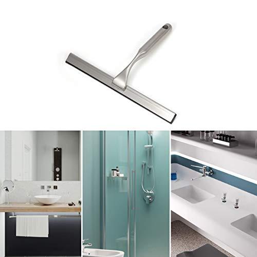 Zhouzhouji lavavetri per cabina doccia, asciuga vetri doccia in acciaio inox,tergivetro per doccia con maniglia tpe anti,spatola doccia e tergivetro per doccia
