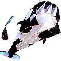 FZSWD Outdoor Fun Sports Single Line Software Whale/Dolphin Kite/Animal Kites con Mango