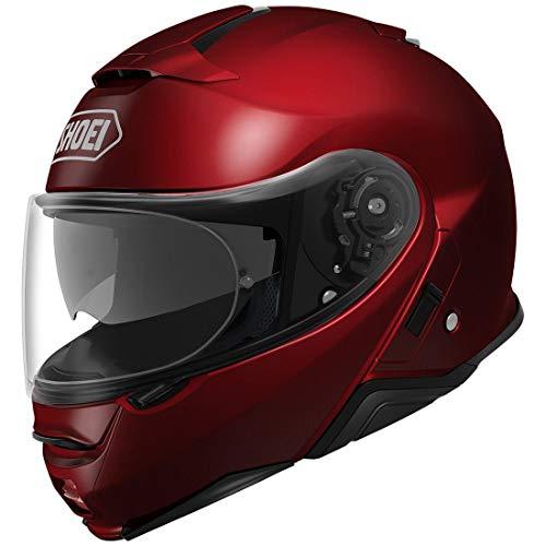 Shoei Casco Convertibile Flip-Up Moto Neotec 2 Plain Rosso (M, Rosso)
