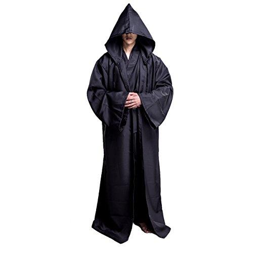 Star Wars Jedi Umhang - Huntfgold Herren Kapuzen Robe Umhang Ritter
