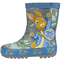 Boys Peter Rabbit Wellingtons Mid Calf Snow Rain Kids Size 5-10 (8 UK Child, Adventure (Blue))