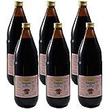 Bio Cranberry Saft , 100 % Direktsaft in der Glasflasche aus Kanada, 6 x 1000ml