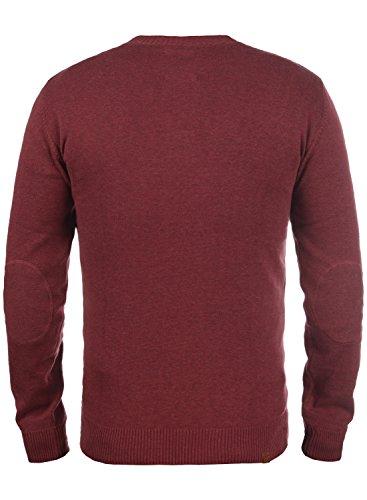 BLEND Leonardo Herren Strickpullover Granddad Pullover Andorra Red