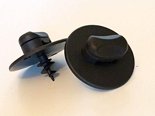 Kit 2* Fissaggio Nera Ovale di tappeto di suolo per Volkswagen/rx23