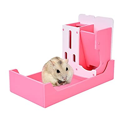 3 in 1 Hamster Rack Cage Playground Small Animal Multi-functional Rack Pet Drinking&Food &Toilet Rack for Chinchillas&Guinea Pigs by Awhao