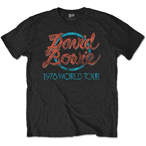 Men's David Bowie 1978 World Tour T-Shirt, L