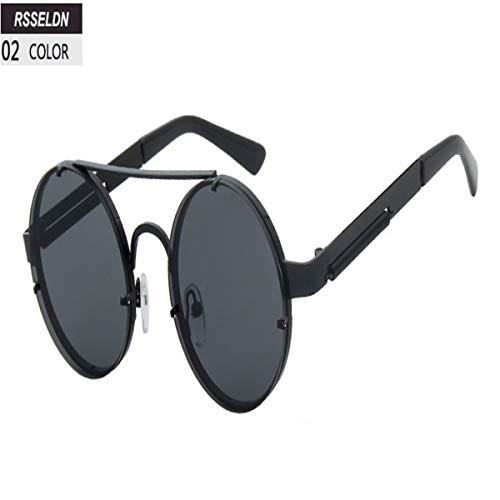 Sport-Sonnenbrillen, Vintage Sonnenbrillen, New Steampunk Sunglasses Men Fashion Round Sun Glasses For Women Vintage Metal Sunglass UV400 Shades R962 02