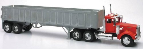 New Ray Die-Cast Truck Replica - Kenworth W900 Frameless Dump Truck, 1:32 Scale, Model# 13733 by New Ray