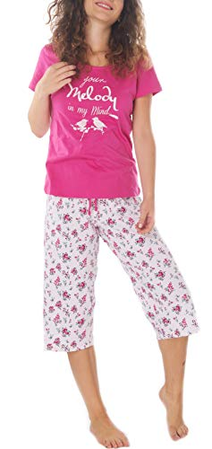 cd5bba0c02 Consult-Tex Ladies/Women Pyjama Nightwear 100% Cotton Single Jersey Pink