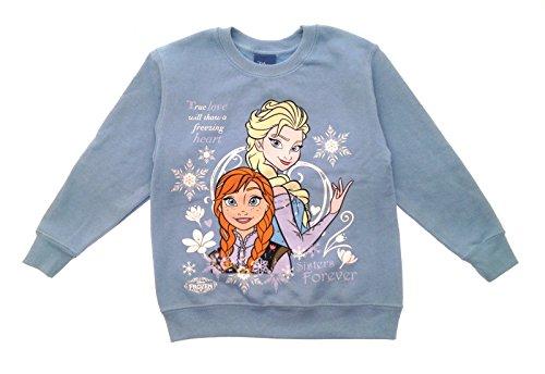 Disney Frozen Elsa Anna Xmas Christmas Jumper Sweatshirt Warm Winter Girls Size UK 5-10 Years