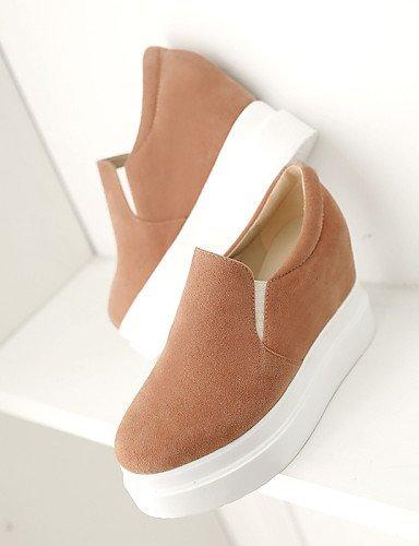 ShangYi gyht Scarpe Donna - Scarpe col tacco - Ufficio e lavoro / Formale / Casual - Tacchi / Creepers - Plateau - Finta pelle -Nero / Bianco / Beige almond