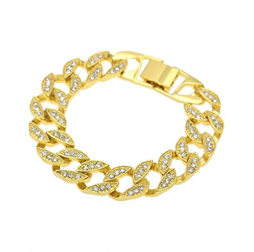 91fafe7cecd61 Miami Cuban Link Cz 15mm Full Stone Iced-out Gold Plated Hip Hop 8