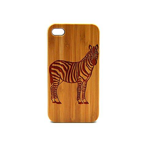 krezy Zèbre Coque en bois véritable pour Apple iPhone 6, iPhone 6cas, iPhone 6étui en bois, en bois pour iPhone,