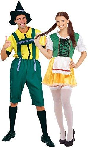 (Fancy Me Paar Herren & Damen deutsche Bier Oktoberfest Fest International traditionell bayrisch Kostüm Verkleidung Outfit)