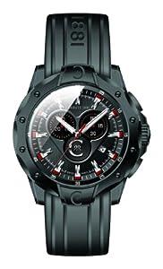 Cerruti CRA026F224G - Reloj de Caballero movimiento de cuarzo con correa de caucho Negro de Cerruti