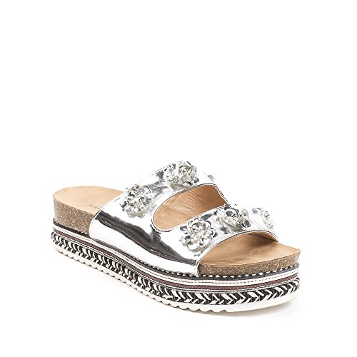 Ideal Shoes ,  Infradito donna Argento