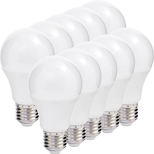 MÜLLER-LICHT 10er-SET LED Lampe Birnenform Essentials ersetzt 60 W Plastik E27, 9 W, Weiß 10 Stück