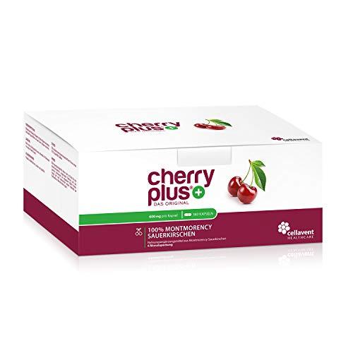 Cherry PLUS - Das Original. Montmorency Sauerkirsche: maximale Konzentration (50:1), naturrein und vegan. OHNE Zusatzstoffe und Zuckerzusatz von Cellavent Healthcare GmbH - 360 Kapseln -