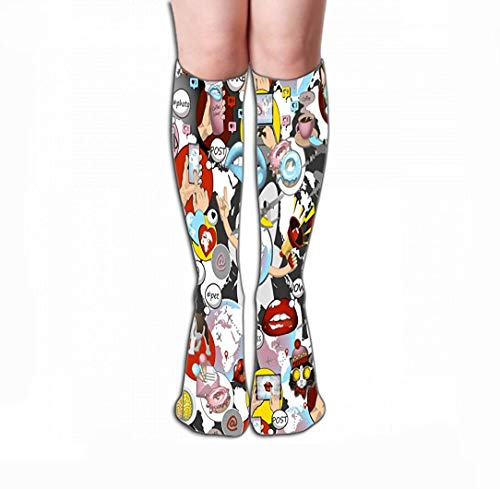 ouyjian Women Knee High Socken Novelty Compression Socken 19.7