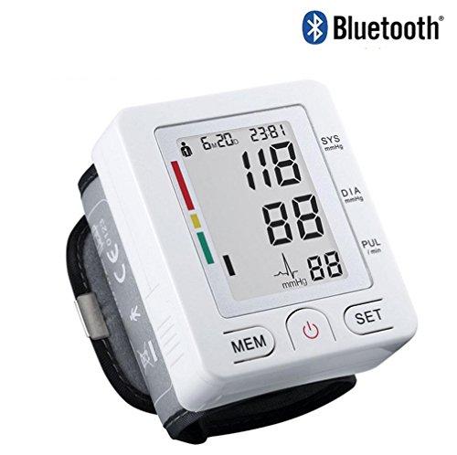 WAOBE Vollständig Bluetooth Automatische Handgelenk Blutdruckmessgerät Digital Intelligente LCD Blutdruck Pulse Monitor Speicher Speicher Haushalt Medizinische und Gesundheit Blutdruckmessgerät mit Englisch Beschreibung (Lcd-handgelenk-blutdruck-monitor)