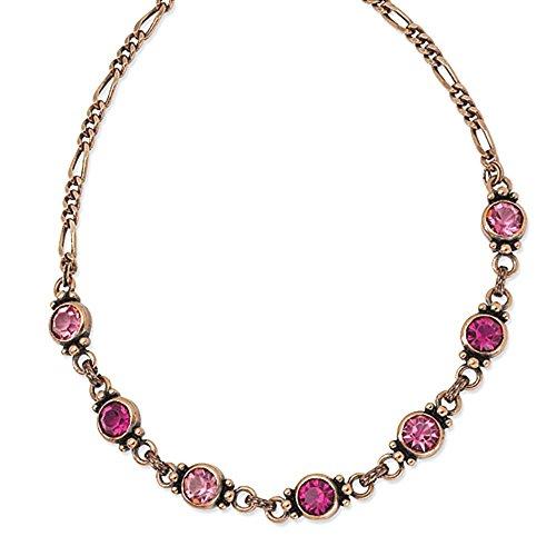 copper-tone-sfaccettato-light-dark-pink-cristallo-155in-w-collana-ext