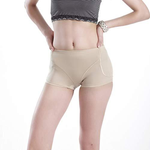KonJin Damen Unterhosen Slips Panty Hipster Abnehmbare Hüftpolsterfüllung Booster Panties Shaping Underwear Panties