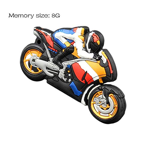MRLIFY Disco U Pen Drive Autobike Llavero Regalo Pen Drive 8Gb 16Gb 32Gb 64Gb Moto Car Cartoon USB Flash Drive Motocicleta