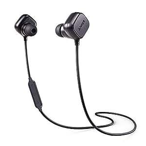 Anker Cuffie Bluetooth Magnetiche Senza Fili SoundBuds Sport IE20 - Auricolari In-Ear Wireless con Controllo Magnetico Intelligente, Microfono, Tempo di Riproduzione di 8 ore e Tecnologia di riduzione del rumore CVC 6.0 per smartphone Android e iPhone