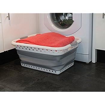 faltbarer w schekorb waschkorb klappbar w schekiste blau. Black Bedroom Furniture Sets. Home Design Ideas