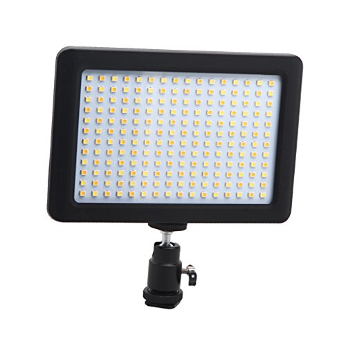 MagiDeal-192-Video-Del-Pannello-Highlight-Luce-A-Led-Dimmerabile-12w-1350lm-Per-DV-Fotocamera-DSLR