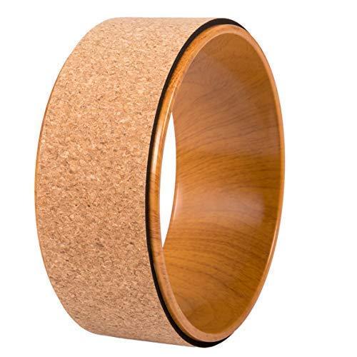 JAP Sports - Yoga Wheel - Yoga Rad - [Pro Series] Stärkstes und bequemstes Dharma Yoga Prop Rad, Perfektes Zubehör zum Dehnen und Verbessern von Rückbeugen, 33 x 13 cm Holz