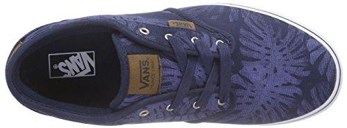 Vans Atwood Deluxe, Sneakers Basses garçon Bleu (Palm Leaf/Blue/White)