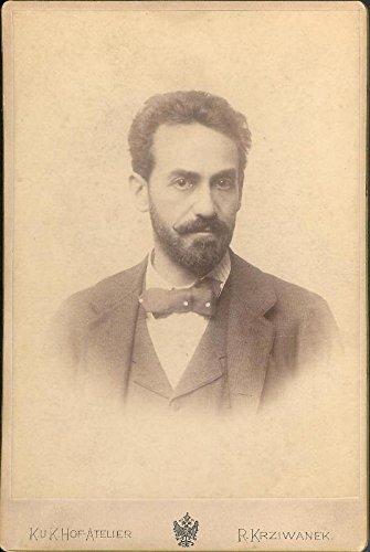 Kabinettphotographie des K. u. K. Hof-Ateliers R. Krziwanek mit eigenh. längerer Widmung und Unterschrift auf der Verso-Seite, Dez. 1895.
