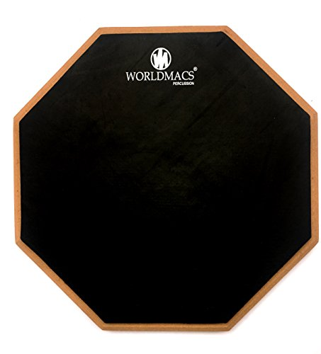 WORLDMACS 12'' INCHES 2 SIDED DRUM PRACTICE PAD +BAG+DRUMSTICKS ABSOLUTELY FREE