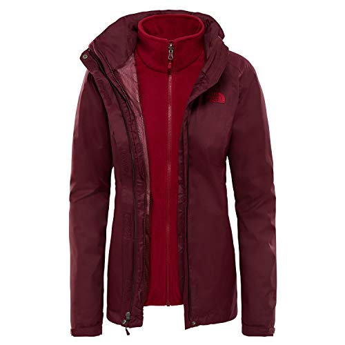 The North Face W Evolve Ii Tri Jkt Fig/Rumba Red XS