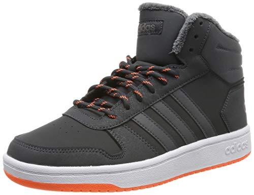 adidas Unisex-Kinder Hoops Mid 2.0 Basketballschuhe, Grau Carbon/Grefiv/Hireor, 38 2/3 EU